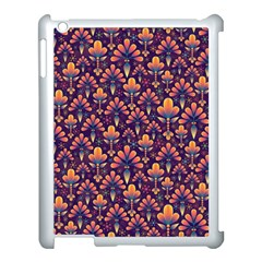 Abstract Background Floral Pattern Apple Ipad 3/4 Case (white) by BangZart