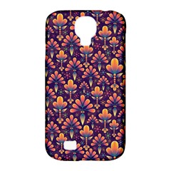 Abstract Background Floral Pattern Samsung Galaxy S4 Classic Hardshell Case (pc+silicone) by BangZart
