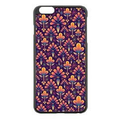 Abstract Background Floral Pattern Apple Iphone 6 Plus/6s Plus Black Enamel Case by BangZart