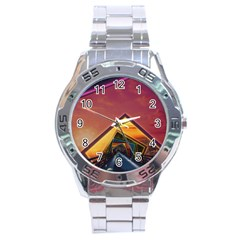 The Rainbow Bridge Of A Thousand Fractal Colors Stainless Steel Analogue Watch by beautifulfractals