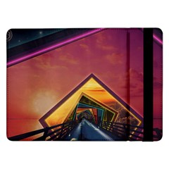 The Rainbow Bridge Of A Thousand Fractal Colors Samsung Galaxy Tab Pro 12 2  Flip Case by jayaprime