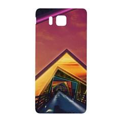 The Rainbow Bridge Of A Thousand Fractal Colors Samsung Galaxy Alpha Hardshell Back Case by jayaprime