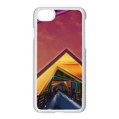 The Rainbow Bridge Of A Thousand Fractal Colors Apple Iphone 7 Seamless Case (white) by beautifulfractals