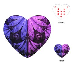 Beautiful Lilac Fractal Feathers Of The Starling Playing Cards (heart)  by beautifulfractals