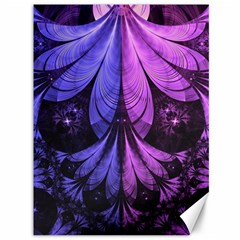 Beautiful Lilac Fractal Feathers Of The Starling Canvas 36  X 48   by jayaprime