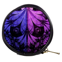 Beautiful Lilac Fractal Feathers Of The Starling Mini Makeup Bags by jayaprime