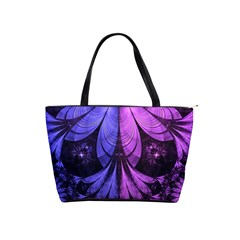 Beautiful Lilac Fractal Feathers Of The Starling Shoulder Handbags by beautifulfractals