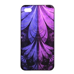 Beautiful Lilac Fractal Feathers Of The Starling Apple Iphone 4/4s Seamless Case (black) by beautifulfractals