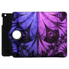 Beautiful Lilac Fractal Feathers Of The Starling Apple Ipad Mini Flip 360 Case by jayaprime