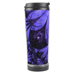 Beautiful Lilac Fractal Feathers Of The Starling Travel Tumbler by jayaprime