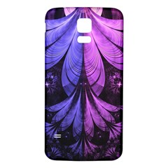 Beautiful Lilac Fractal Feathers Of The Starling Samsung Galaxy S5 Back Case (white) by beautifulfractals