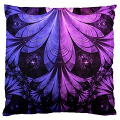 Beautiful Lilac Fractal Feathers Of The Starling Standard Flano Cushion Case (one Side) by jayaprime