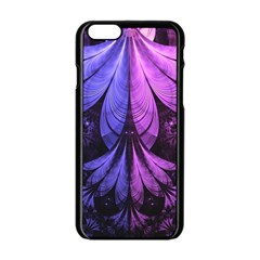 Beautiful Lilac Fractal Feathers Of The Starling Apple Iphone 6/6s Black Enamel Case by beautifulfractals