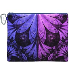 Beautiful Lilac Fractal Feathers Of The Starling Canvas Cosmetic Bag (xxxl) by beautifulfractals