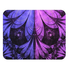 Beautiful Lilac Fractal Feathers Of The Starling Double Sided Flano Blanket (large)  by beautifulfractals