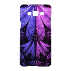 Beautiful Lilac Fractal Feathers Of The Starling Samsung Galaxy A5 Hardshell Case  by beautifulfractals