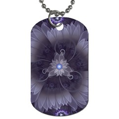 Amazing Fractal Triskelion Purple Passion Flower Dog Tag (two Sides) by jayaprime