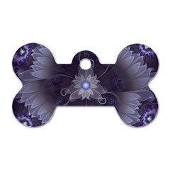 Amazing Fractal Triskelion Purple Passion Flower Dog Tag Bone (one Side) by jayaprime