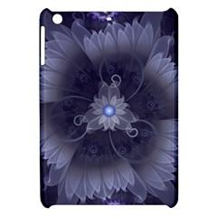 Amazing Fractal Triskelion Purple Passion Flower Apple Ipad Mini Hardshell Case by jayaprime