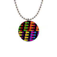 Colorful Rectangles And Squares                        1  Button Necklace by LalyLauraFLM