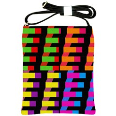 Colorful Rectangles And Squares                        Shoulder Sling Bag by LalyLauraFLM