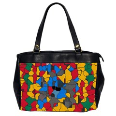 Stained Glass                        Oversize Office Handbag (2 Sides) by LalyLauraFLM