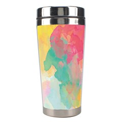 Pastel watercolors canvas                        Stainless Steel Travel Tumbler