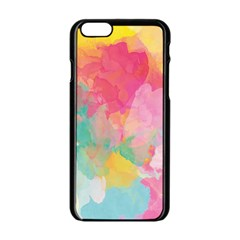 Pastel Watercolors Canvas                  Apple Iphone 6/6s White Enamel Case by LalyLauraFLM