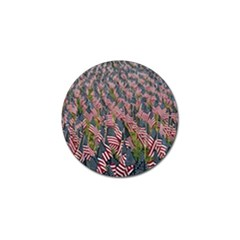 Repetition Retro Wallpaper Stripes Golf Ball Marker (4 Pack) by BangZart