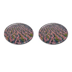 Repetition Retro Wallpaper Stripes Cufflinks (oval) by BangZart