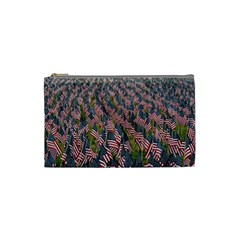 Repetition Retro Wallpaper Stripes Cosmetic Bag (small)  by BangZart