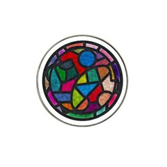 Stained Glass Color Texture Sacra Hat Clip Ball Marker (4 Pack) by BangZart