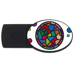 Stained Glass Color Texture Sacra Usb Flash Drive Oval (4 Gb) by BangZart