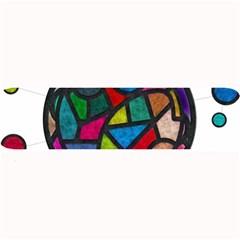 Stained Glass Color Texture Sacra Large Bar Mats by BangZart