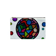 Stained Glass Color Texture Sacra Cosmetic Bag (small)  by BangZart