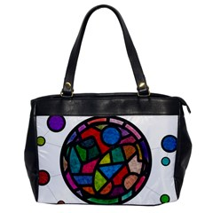 Stained Glass Color Texture Sacra Office Handbags by BangZart
