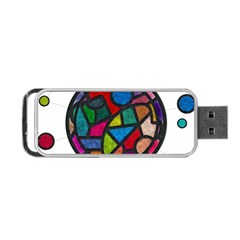 Stained Glass Color Texture Sacra Portable Usb Flash (two Sides) by BangZart