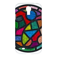 Stained Glass Color Texture Sacra Samsung Galaxy S4 I9500/i9505 Hardshell Case by BangZart