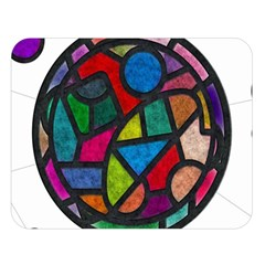 Stained Glass Color Texture Sacra Double Sided Flano Blanket (large)  by BangZart