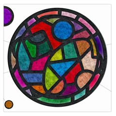 Stained Glass Color Texture Sacra Large Satin Scarf (square) by BangZart