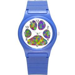 Paw Round Plastic Sport Watch (s) by BangZart
