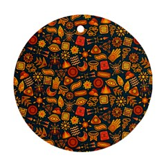 Pattern Background Ethnic Tribal Ornament (round) by BangZart