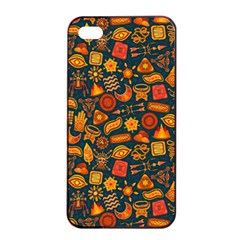 Pattern Background Ethnic Tribal Apple Iphone 4/4s Seamless Case (black) by BangZart