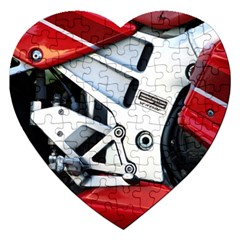 Footrests Motorcycle Page Jigsaw Puzzle (heart) by BangZart