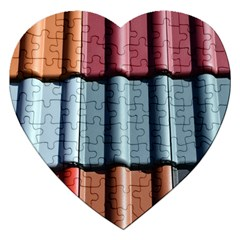 Shingle Roof Shingles Roofing Tile Jigsaw Puzzle (heart) by BangZart