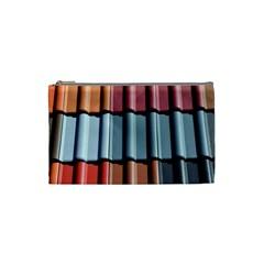 Shingle Roof Shingles Roofing Tile Cosmetic Bag (small)  by BangZart