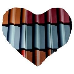 Shingle Roof Shingles Roofing Tile Large 19  Premium Heart Shape Cushions by BangZart