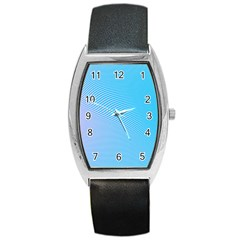 Background Graphics Lines Wave Barrel Style Metal Watch by BangZart