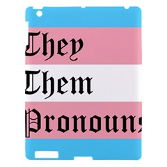 They/them Pronouns Apple Ipad 3/4 Hardshell Case by TransPrints
