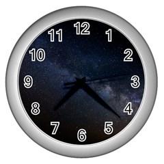 Cosmos Dark Hd Wallpaper Milky Way Wall Clocks (silver)  by BangZart